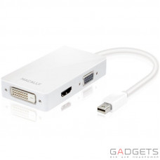 Кабель для видео Macally Mini DisplayPort to DVI / HDMI / VGA adapter (MD-3N1)