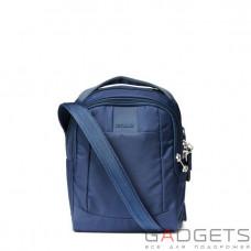 Сумка через плечо, вертикальная, антивор Pacsafe Metrosafe LS100, 5 степеней защиты, синяя