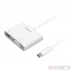 Адаптер Macally USB-C Adapter Series white (UCVH4K)