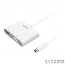 Адаптер Macally USB-C Adapter Series white (UCVH4K)