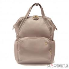 Женский рюкзак антивор Pacsafe Citysafe CX Backpack, 6 степеней защиты, коричневый
