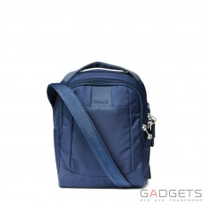 Сумка через плечо, вертикальная, антивор Pacsafe Metrosafe LS100, 5 степеней защиты, темно-синий