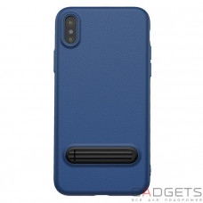 Чехол Baseus Happy Watching Supporting Case Royal Blue для iPhone X (WIAPIPH8-LS15)