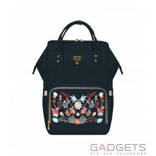 Рюкзак для мамы Sunveno Diaper Bag Black Embroidery