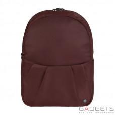 Женский рюкзак трансформер антивор Pacsafe Citysafe CX Covertible Backpack, 6 степеней защиты, бордовый