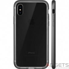Чехол Laut EXO-FRAME Aluminium bampers для iPhone Х Matt Black (LAUT_iP8_EXI_GM)