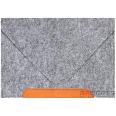 Фетровый чехол-конверт Gmakin для Macbook 12 (GM10-12)