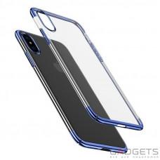 Чехол Baseus Glitter Case Blue для iPhone X (WIAPIPH8-DW03)