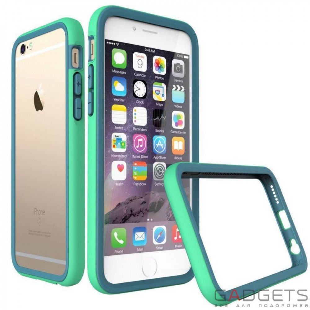 Фото Бампер Rhino Shield Crash Guard Green для iPhone 6 / 6s
