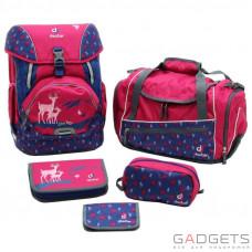 Шкільний набір Deuter OneTwoSet - Sneaker Bag колір 5018 magenta deer