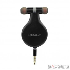 Наушники Macally BUBAUDIO Retractable Earbud with Remote and Microphone (BUBAUDIO-B)