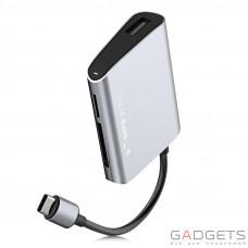 Адаптер Baseus Enjoyment series Type-C to SD+TF Card+USB2.0 HUB Adapter Gray