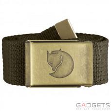 Ремень Fjallraven Canvas Brass Belt 4cm Dark Olive (77297.633)