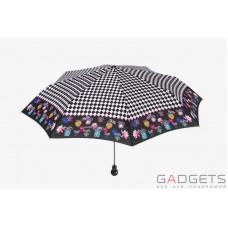 Зонт складной женский Maison Perletti Poise scacchi Черный / Белая клетка (16207.2;7669)