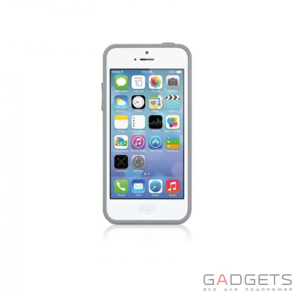 Фото Чехол Macally Protective Hard-shell Case with Stand for iPhone 5C (KSTANDP6-G)
