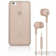Набор (чехол накладка+наушники) White Diamonds Bundle Rose (Trinity Rose Gold+Earphones Rose Gold) for iPhone 6/6S (7007TRI56)