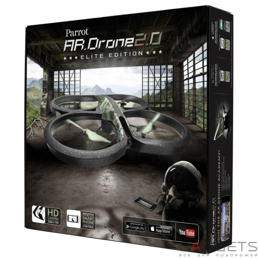Фото Квадрокоптер Parrot AR. Drone 2.0 Elite Edition Jungle (PF721822BI) Офіційна гарантія