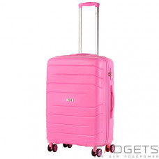 Чемодан TravelZ Big Bars (M) Pink