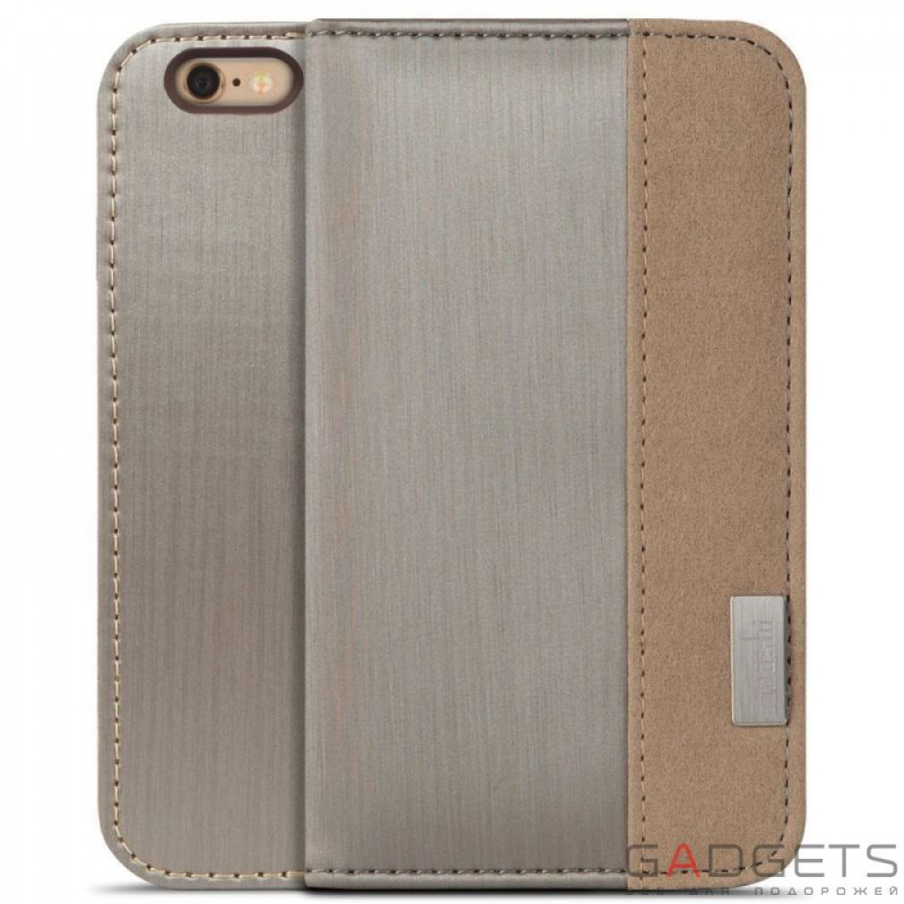 Фото Чехол Moshi Overture Wallet Case Brushed Titanium for iPhone 6 Plus