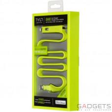 Автомобільний зарядний пристрій TYLT Band Car Charger Lightning+USB, 2.1А Green 0.6 m (IP5-BANDG-T)