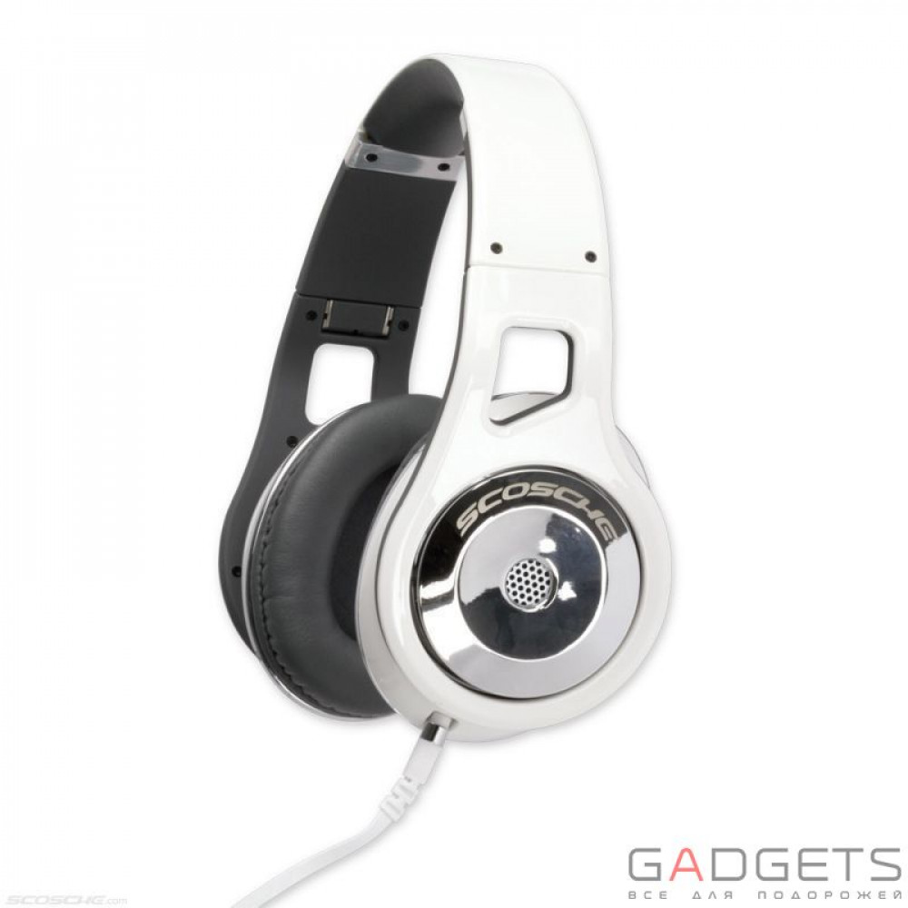 Фото Наушники Scosche Reference Grade On Ear Headphones with tapLINE III Control Technology (White)