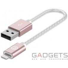 Кабель для зарядки и синхронизации Lab.C Lightning Leather Cable A.L Rose Gold (0.15 m) (LABC-510-RG)