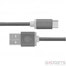 Кабель COTEetCI M20 TYPE-C Cable Space Grey Nylon, 1.2M