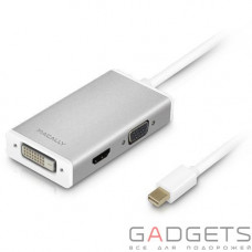 Кабель для видео Macally Mini DisplayPort to DVI/HDMI/VGA adapter (MD-3N1-4K)