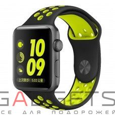 Ремешок COTEetCI W12 Apple Watch Nike band 38mm (WH5217-BK-YL)