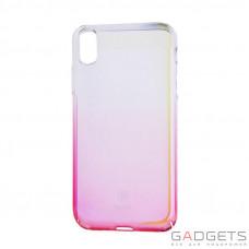 Чехол Baseus Glaze Case Transparent Pink для iPhone X (WIAPIPH8-GC04)