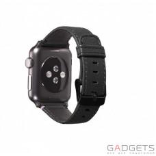 Ремешок Decoded Leather Straps для Apple Watch Черный (D5AW42SP1BK)