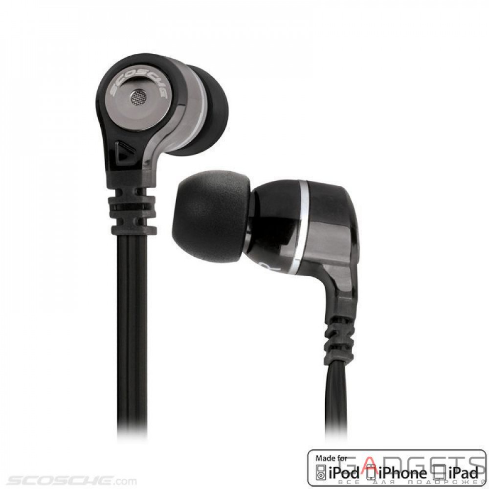 Фото Наушники Scosche Noise Isolation In Ear Monitors with tapLINE III Control Technology (Dark)