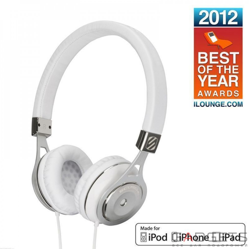 Фото Наушники Scosche Reference Grade On Ear Headphones with tapLINE III Control Technology (White) RH656M