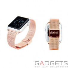Ремешок COTEetCI W2 Milanese Band для Apple Watch 42mm Rose Gold