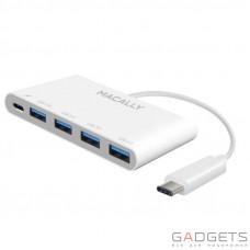 USB Хаб Macally на 4 порта USB-A и USB-C Белый (UC3HUB4C)