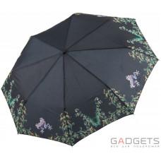 Зонт складной женский Maison Perletti Ramage Черный / Жабка (16205.1;7669)