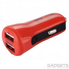 Автомобільний зарядний пристрій Baseus Tiny-color Car Charger Red