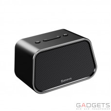 Портативная колонка Baseus Encok Multi-functional wireless speaker E02 Aluminum alloy+U disk/TF card/AUX Black (NGE02-01)