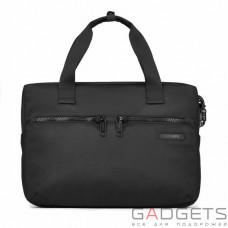 Сумка для ноутбука 15 дюймів, горизонтальна, антизлодій Pacsafe Intasafe slim brief, 5 ступенів захисту, чорна