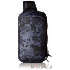 Сумка через плечо антивор Pacsafe Vibe 325, 5 степеней защиты, черный-камуфляжный