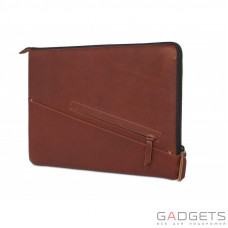 Чехол Decoded Leather Sleeve with Zipper Pocket 13'' MacBook Pro 2016 touchbar & 13'' Pro Retina brown (D7M13SS2CBN)