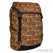 Рюкзак для ноутбука 15.6 CAT Millennial 20л коричневый/желтый/рисунок (83368.345)