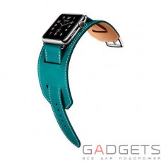 Ремінець COTEetCI W10 Fashion Leather Band для Apple Watch 38mm Blue