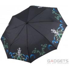 Зонт складной женский Maison Perletti Ramage Черный / Ангел (16205.3;7669)