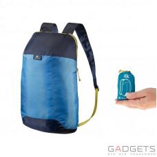 Рюкзак QUECHUA Ultra Compact 10 л синий/голубой