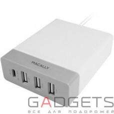 Сетевое зарядное устройство Macally Home Chargers white (HOME72UC-EU)