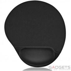 Ергономічний килимок Ergonomic Mousepad Black
