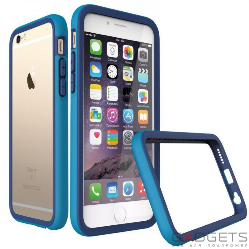 Фото Бампер Rhino Shield Crash Guard Blue для iPhone 6 / 6s
