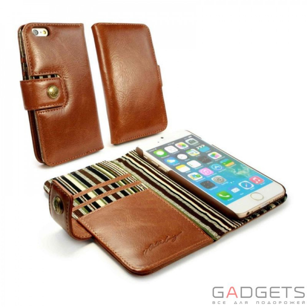 Фото Чехол Vintage Leather Wallet Case для iPhone 6 Brown