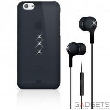Набор (чехол накладка+наушники) White Diamonds Bundle Black (Trinity Black+Earphones Black) for iPhone 6/6S (7007TRI6)